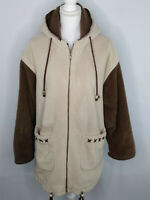 Izzi Outerwear Womens Coat Hooded Zip Up Brown/Sand Size M