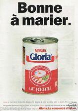 Publicité advertising 1996 Lait Concentré Gloria