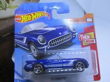 HOT WHEELS 2018 192/365 '55 CORVETTE NEW ON CARD Then and Now