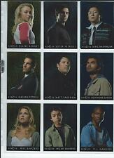 Heroes Series One Trading Cards 10 Card Foil Character Card Chase Set Good+