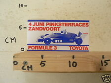 STICKER,DECAL TOYOTA FORMULE 3 4 JUNI PINKSTERRACES ZANDVOORT A