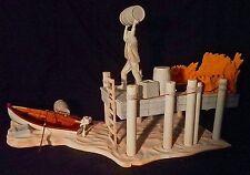 Aurora Monster Scenes Scale Strange Frankenstein Dock Scene Playset Model