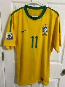 2010 World cup Brazil Match worn Robinho Player issue Jersey Authentic