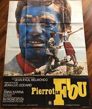 Pierrot le fou / Belmondo / Affiche / Cinéma / Poster / original / VG+