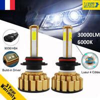 360° 4 côtés 110W 9006 HB4 30000LM CANBUS Voiture Feux LED Phare Lampe Kit 6000K