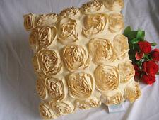 Two Unique Elegant 3D Rose Ivory Cushion Cover 43cm