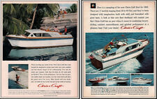AD LOT OF 2 1962 G ADS CHRIS CRAFT FLEET CONSTELLATION WATER SKI BOATS SPORTS
