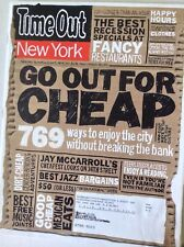 TimeOut New York Magazine Go Out For Cheap March 4, 2009 090217nonrh