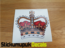 Royal Crown British Vehicles Sticker Car Van Bike Helmet for Enfield Free P&P