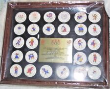 1-D Calgary 1988 Olympic Winter Games & Seoul Button 26 Pin Set US Team Mascots