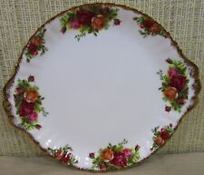 Royal Albert Old Country Roses Cake Plate Cookie Sandwich Tray Made England (K1)