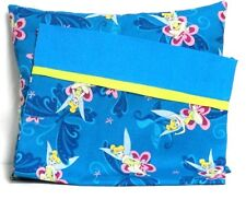 Tinkerbell Toddler Pillow and Pillowcase Turquoise Blue Cotton #Tb5 New Handmade