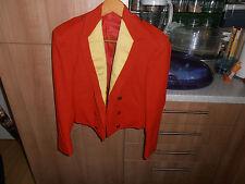 Vtg 1930s Bespoke Gloucestershire  Officers Red & Gold Silk Mess Dress Jacket