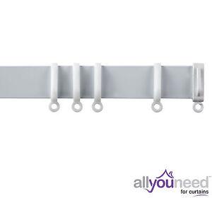 White Aluminium Streamline Curtain Track - Suitable for Straight & Bay Windows