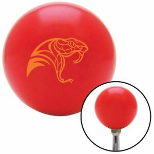 Orange Snake Profile Red Shift Knob with M16 x 1.5 Insert model t a body
