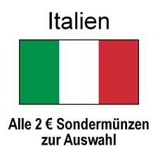 Italien - alle 2 Euro Sondermünzen Gedenkmünzen - alle Jahre - bankfrisch unc.