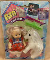 Vintage 1990 Cititoy Patti And Her Pony Blonde Little Girl Doll Set New