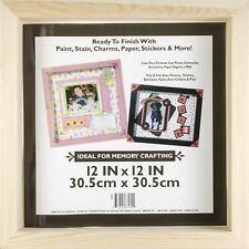 """Wood Shadow Box-12""""X12""""X1.7 5"""" -97824"""