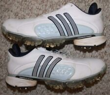Adidas Athletic Golf Cleats Shoes 6 Six Womens Choice White Navy & Blue Women