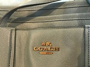Coach baby tote in Baby blue