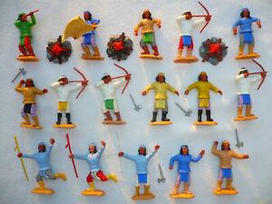 Timpo Toys 16 Apachen Figuren