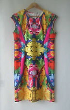 Womens Brave Soul sz M 12 Tropical Bright Color Splash Dress