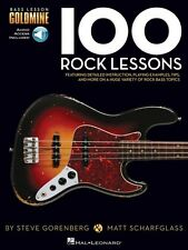 100 Rock Lessons - Bass Lesson Goldmine Series Bass Instruction Book A 000131461