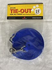 New listing Pet Wear 15 Foot Nylon Tie-Out For All Dogs Small,Medium And Large Free Shipping