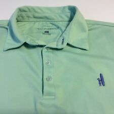 Johnnie O Mens Prep Performance Pique Ss Polo Golf Shirt Green Sz Large Flaw