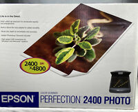Epson Perfection 2400 PHOTO Flatbed Scanner USB Great quality Works w/ Cords
