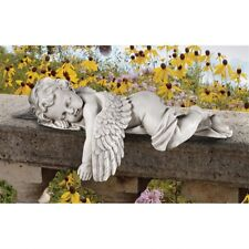 Sleeping Angel Cherub Statue Indoor Outdoor Garden Yard Art Shelf Sitter Decor