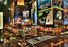 "CHOIS WM1040 City Wall Murals New York Night Stree Wallpaper Sticker 100"" x 145"""