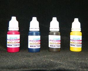 Fluorescent SUBLIMATION UV glow ink for Epson inkjet printer 30ml x 4 set