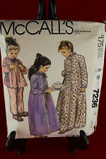 McCall's 7236 Size Large Childs Clothing Pattern
