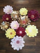 Giant paper flowers backdrop party wedding event decoration cardstock custom