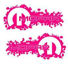 2 HOT PINK Mopar Decals Sticker dodge jeep ram 1500 2500 4x4 hemi 4x4 3500