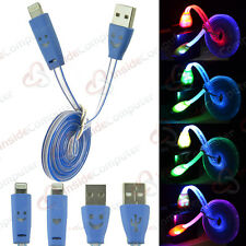 LED Blue Lighting cable 3 pk for I phone models 5 5c 5s 6 6 plus I pad air air2