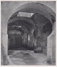 D3759 Ostia antica - Sala termale illuminata da lucernarii - Stampa - 1939 print