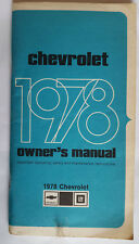 Betriebshandbuch / Owners manual Chevrolet Impala & Caprice 1978