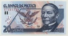 Mexico 20 Pesos 10-12-1992 Pick 100 UNC Uncirculated Banknote Serie H