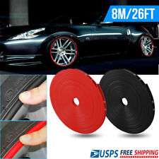 26Ft/8M Car Wheel Hub Rim Edge Protector Trim Tire Guard Sticker Strip Universal