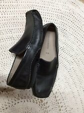 Mens Black Leather  Franco Fortini 11.5 Worn Once Loafers