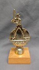 Baseball trophy ball star award wood base personalized