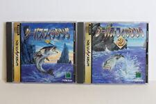 Lot of 2 Seabass Fishing 1 & 2 Sega Saturn SS Japan Import US Seller