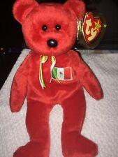8d80b7fcd7f Ty Beanie Baby Osito The Mexican Flag Teddy Bear- Exclusive Flag 1999 Rare