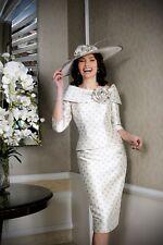 Ian Stuart Mother of the Bride Dress Champagne Spot Sleeve Size 16 BNWT ISL888