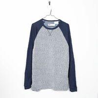 Vintage LEVIS Small Logo Plain Sweatshirt Grey | Medium M