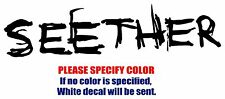 "Seether Band Rock Music Vinyl Decal Car Sticker Window bumper Laptop Tablet 7"""