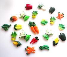 23 Mezclados vegetal Flatbacks-Chile Zanahorias Calabaza de maíz asparugs + Gratis P&P