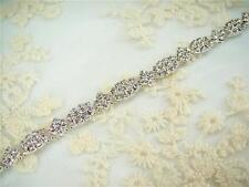 Sparkling Rhinestone Trimming Bridal Diamante Applique Beaded Motif  Wedding